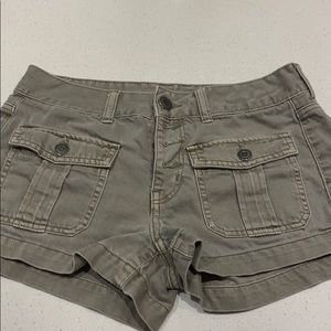 American Eagle army green jean shorts